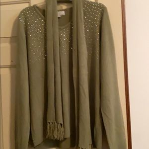 Sweater with scarf. Never worn
